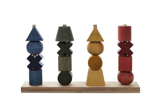 WoodenStory Formen Steckspiel XL, bunt