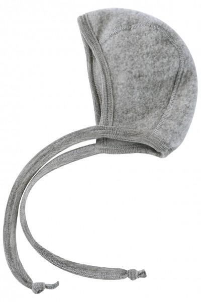 Engel Natur Woll-Fleecemütze Bonnet, grau