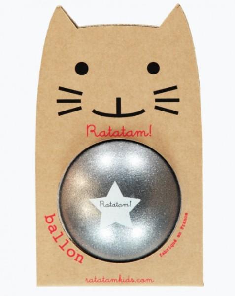 Ratatam Katze Ball Glitzer Grau, Big