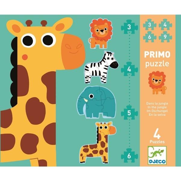 Djeco Puzzle Primo - Im Dschungel