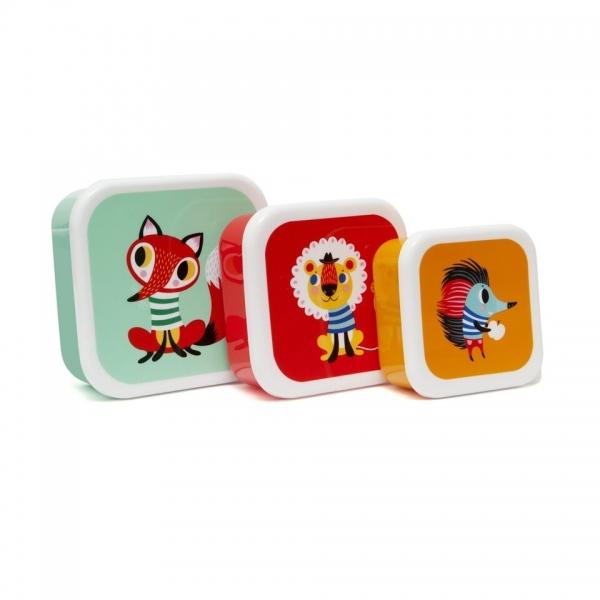 Petit Monkey Brotdosen 3-er Set, Fuchs&Friends