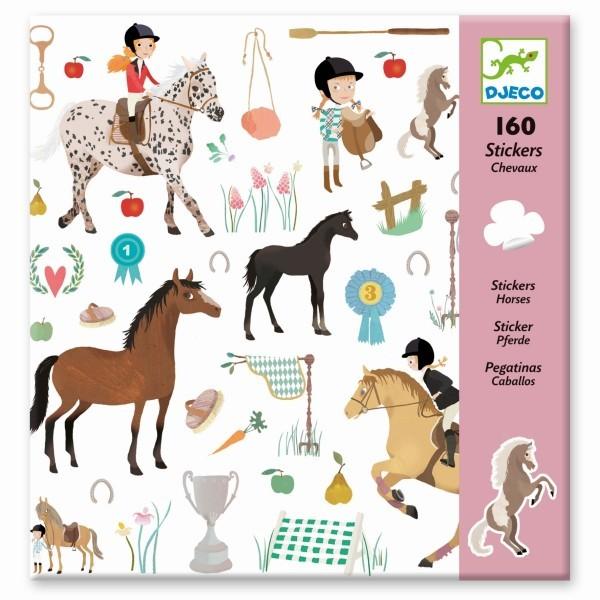 djeco Sticker, Pferde