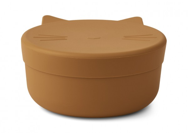 Liewood Snack Box Cornelius Cat, mustard