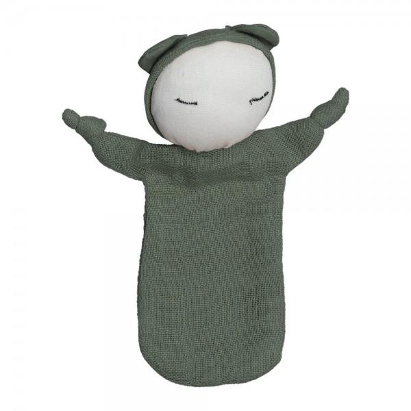 """Fabelab Schnuffeltuch """"Cuddle Doll"""", olive"""