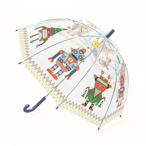 """Djeco Kinder Regenschirm """"Roboter"""""""