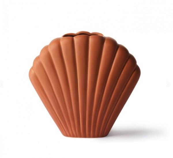 HK living Vase, Ceramic Shell Vase terra M