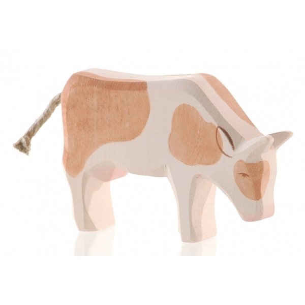 Ostheimer Kuh braun, fressend