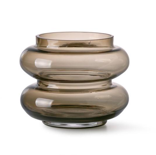 HK living Vase, Smoked brown, small