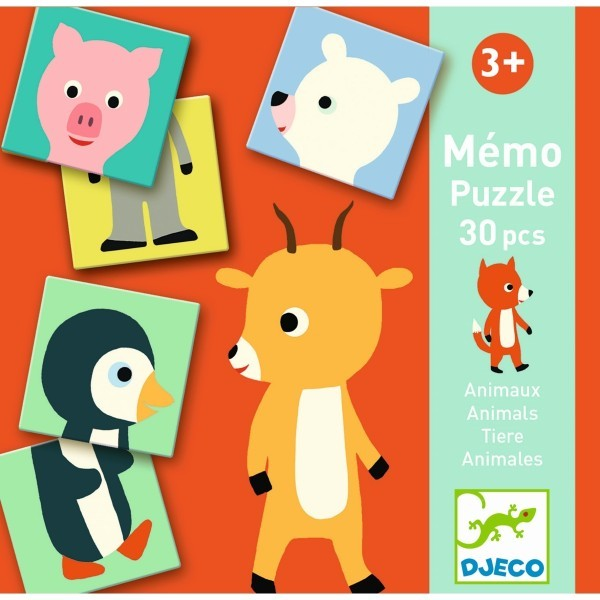 Djeco Memory Spiel - Animo Puzzle