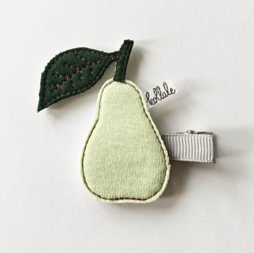 Kollale Haarspange Birne Grün