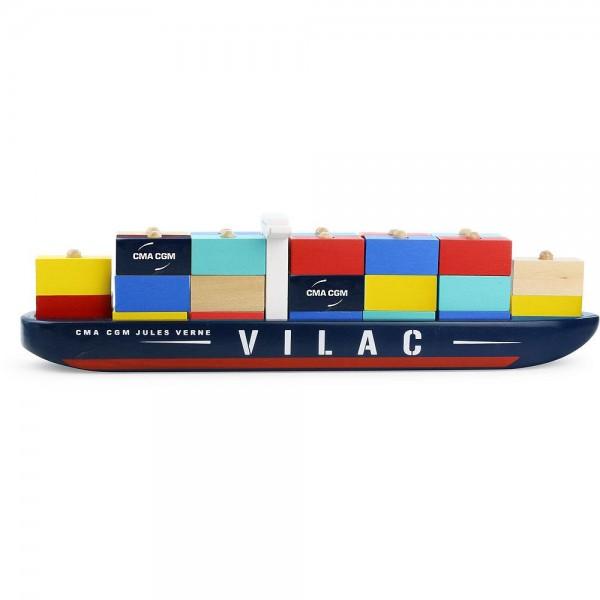 "Vilac Stapelspiel ""Containerschiff"""