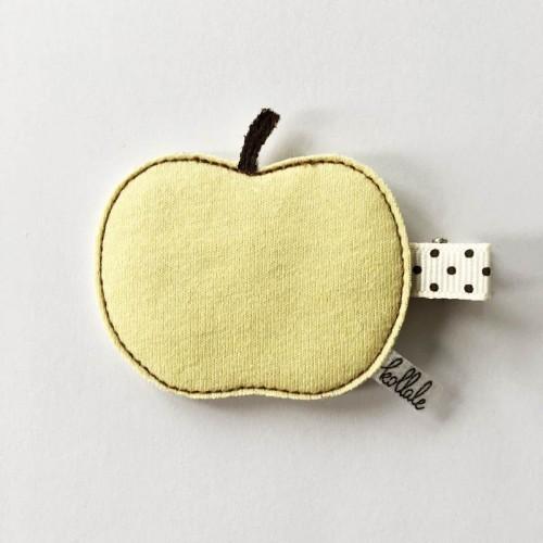 Kollale Haarspange Apfel Gelb