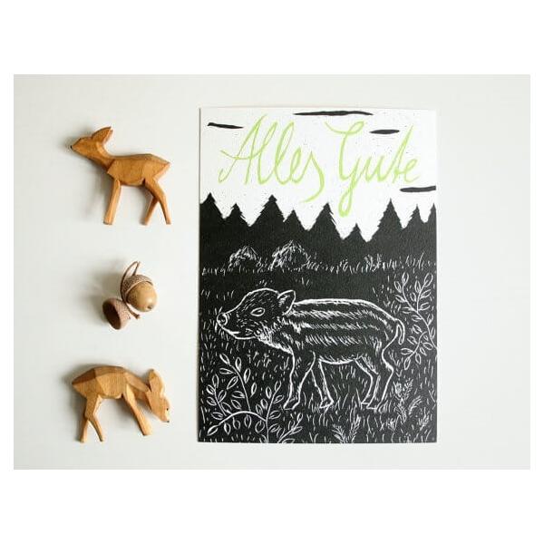 Katja Rub Waldtier-Geburtstagskarten