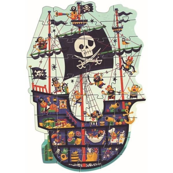 Djeco Puzzle - Das Piratenschiff