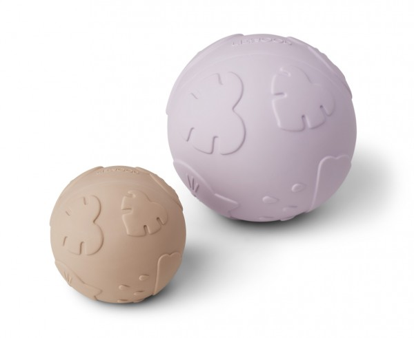 Liewood Thea baby ball - 2-er Set- Classic light lavender-rose mix