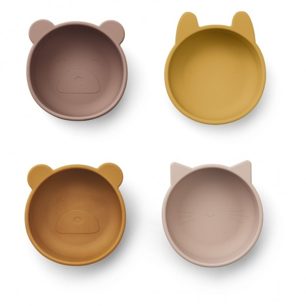 "Liewood ""Iggy Silicone Bowls"", Schüsselset Rose mix-Copy"