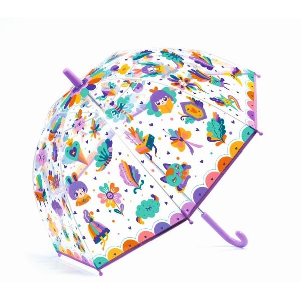 """Djeco Kinder Regenschirm """"Pop Regenbogen"""", lilla"""