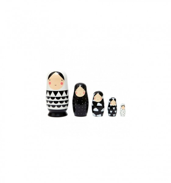 Petit Monkey Matroschka Black&White