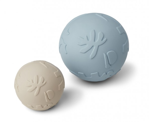 Liewood Thea baby ball - 2-er Set- Dino sandy sea blue mix