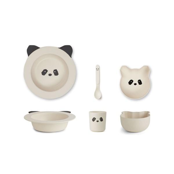 """Liewood Bambus Geschirr-Set """"Barbara"""" Creme, Panda"""