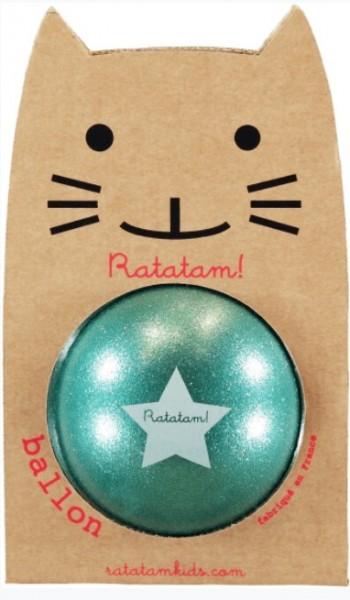Ratatam Katze Ball Glitzer Grün, medium