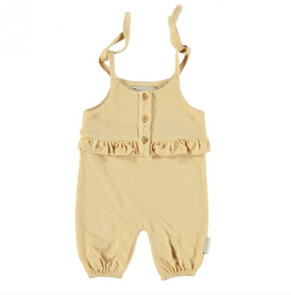 Piupiuchick Baby Jumsuit, sand