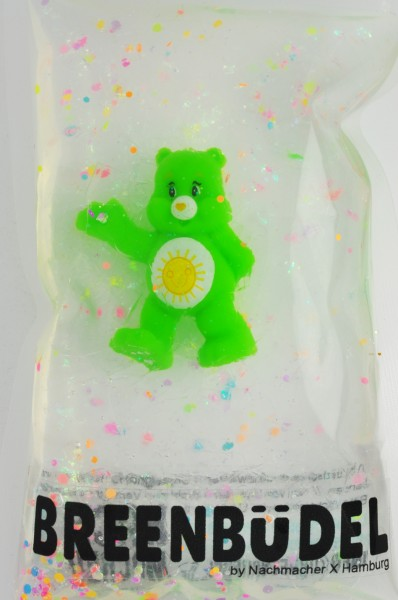 Breenbüdel Kühlkissen mit Glücksbär Grün (Sonne) Figur