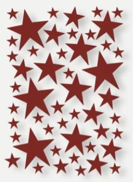 Ferm LIVING Mini Wandtatoo Sterne, Wand Sticker , Rot