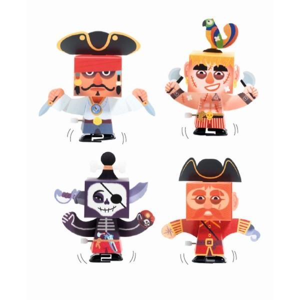 Djeco DIY 4 Figuren zum Zusammen Bauen