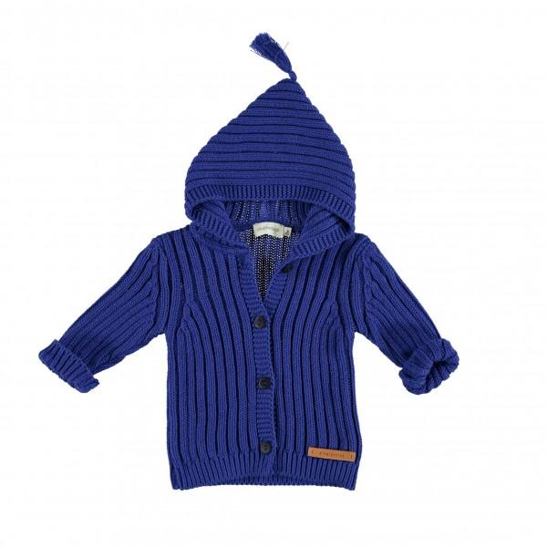 Piupiuchick Knitted Kaputzenpullover, blau, 6M- 24 M