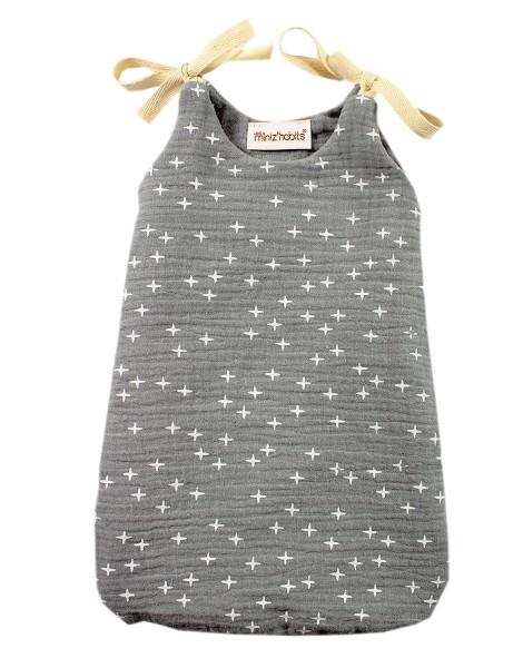 Minikane, Schlafsack Grau Sterne