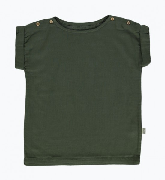 Poudre Organic Blouse Lin, Forest Green