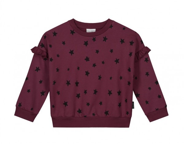 Daily Brat Meghan Star Sweater, Carben Red