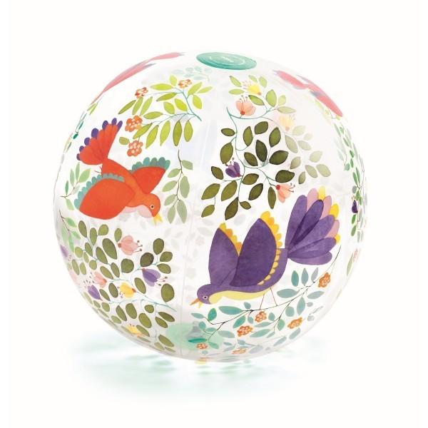 Djeco Aufblasbarer Ball, Wasserball - Vögel