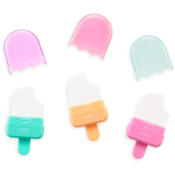Ooly Radiergummis, Icy Pop, 3-er Set