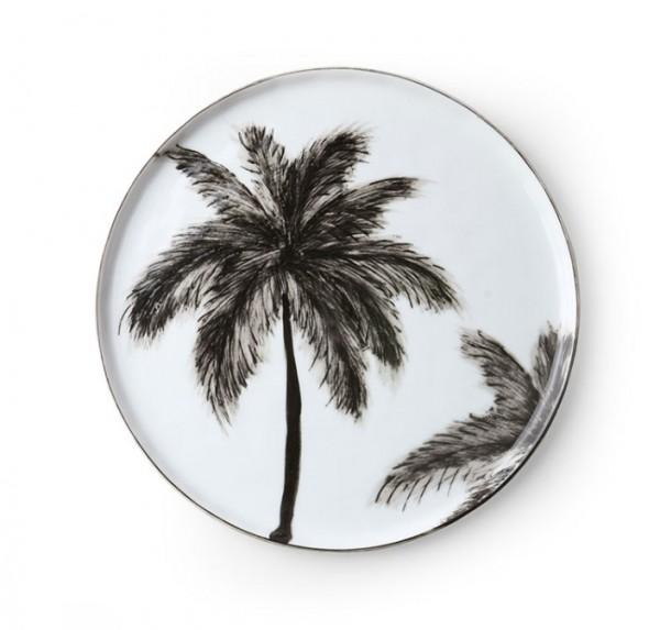 HK living Keramik Teller, Palms