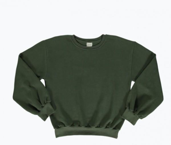 Poudre Organic Sweatshirt Cedrat, Forest Green