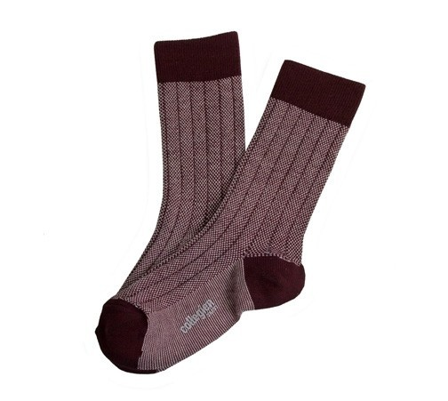 "Socken ""Herritage 70"" Aubergine"