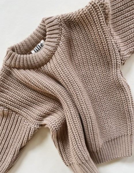 """Lille Sweater """"Chunky"""", Beige"""