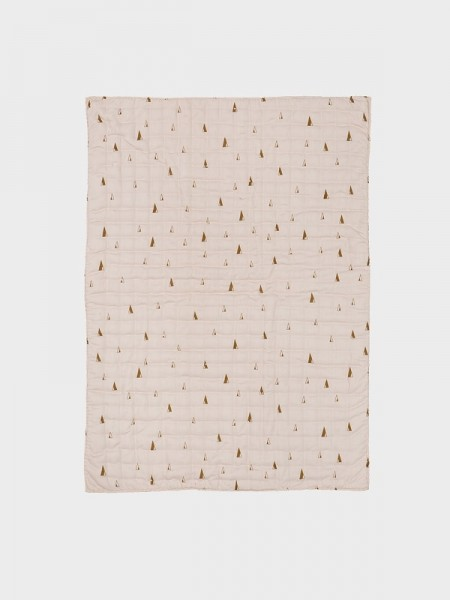 Ferm Living Cone Quilted Blanket -Rosa