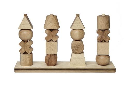 WoodenStory Formen Steckspiel XL, natur