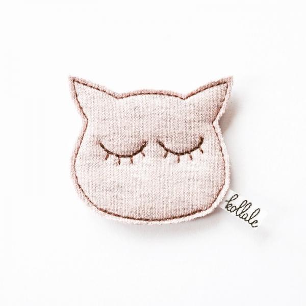 Kollale Haarspange Katze, rosa
