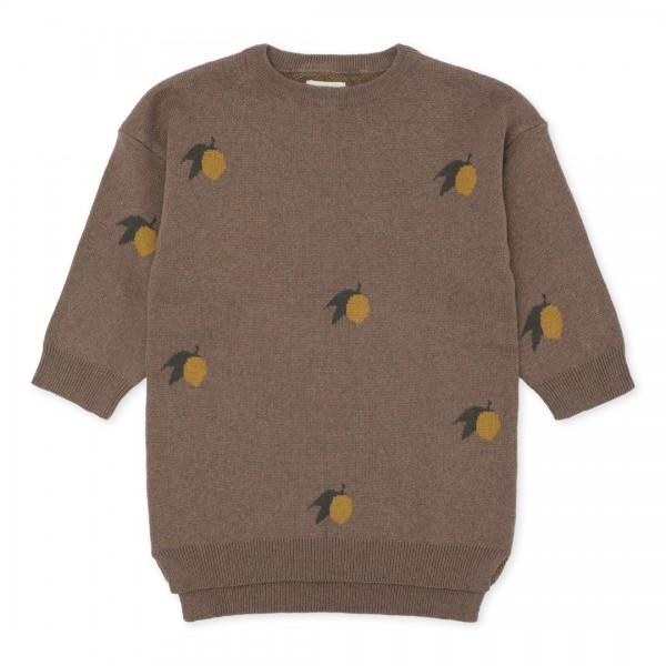 """konges slojd """"Lapis Jacquard"""" Sweater Kleid, Lemon"""