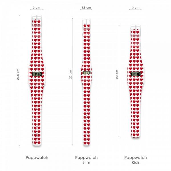 Herz Pappwatch KIDS/ Armbanduhr aus Tyvek