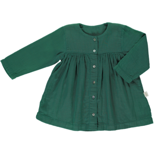 Poudre Organic Kleid bistro green 9M- 24 M