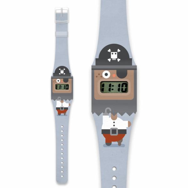 Pirat Pappwatch KIDS/ Armbanduhr aus Tyvek