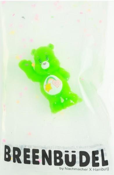 Breenbüdel Kühlkissen Glücksbär Grün (Stern/Herz)