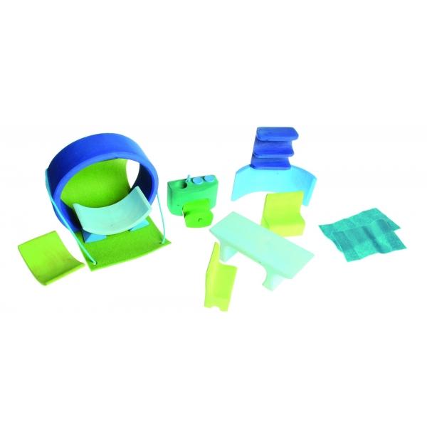 Grimms, Bauhaus blau-grün