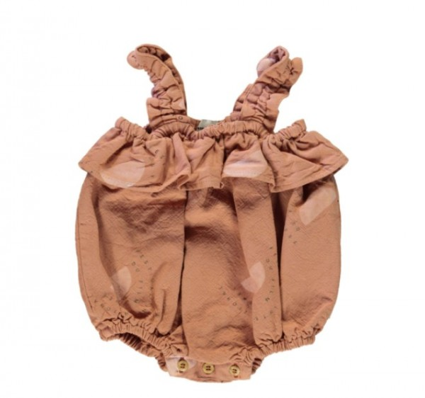 """Piupiuchick Baby Playsuit, Nut """"Festival all over"""""""