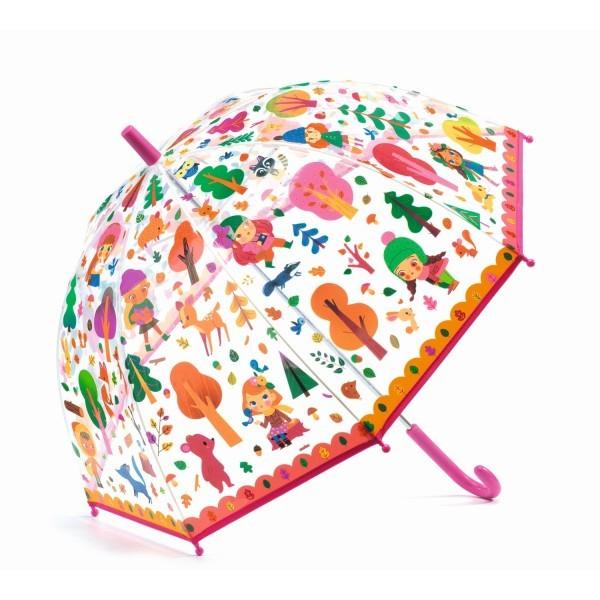 """Djeco Kinder Regenschirm """"Wald"""", pink"""